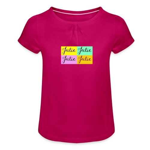 Julie Pop art - T-shirt à fronces au col Fille