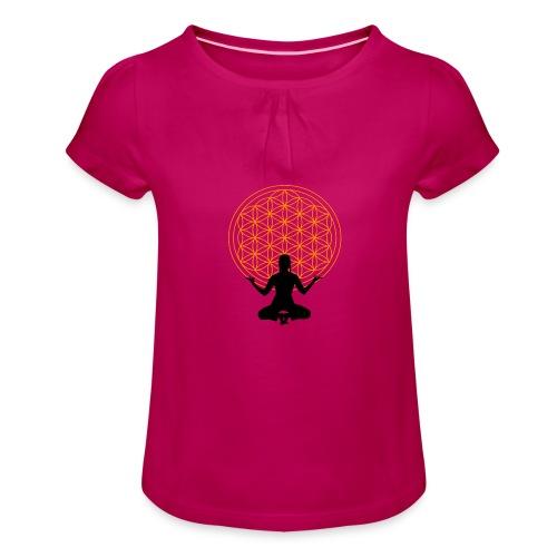 fleur de vie yoga 3 - T-shirt à fronces au col Fille