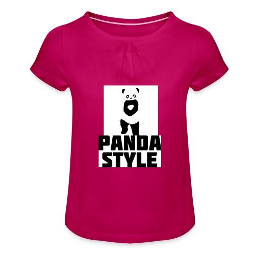 fffwfeewfefr jpg - Pige T-shirt med flæser