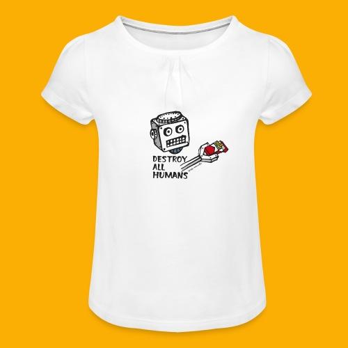 Dat Robot: Destroy Series Smoking Light - Meisjes-T-shirt met plooien