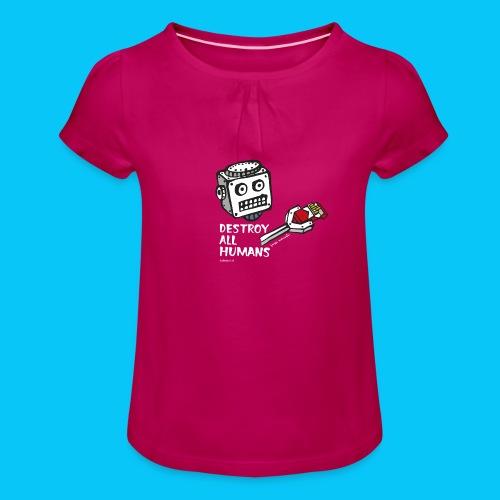 Dat Robot: Destroy Series Smoking Dark - Meisjes-T-shirt met plooien