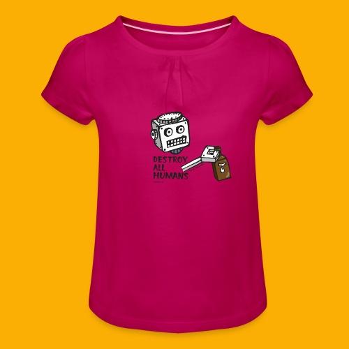 Dat Robot: Destroy Series Booze Light - Meisjes-T-shirt met plooien