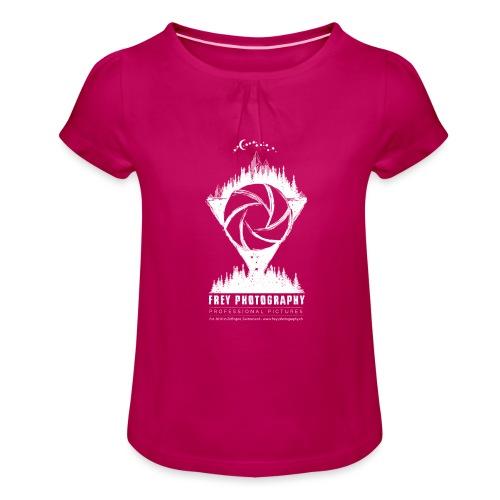 Fotografie oder Fantasy - Mädchen-T-Shirt mit Raffungen