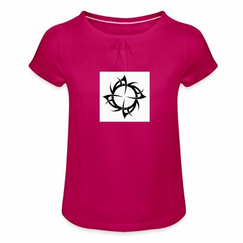 Tribal style - T-shirt à fronces au col Fille