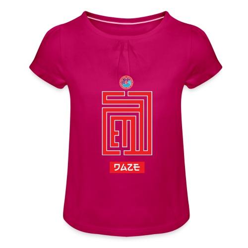 Red Rise II - T-shirt à fronces au col Fille