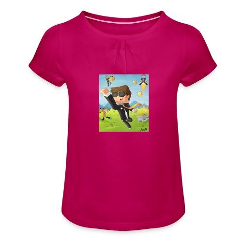 Omgislan - Girl's T-Shirt with Ruffles
