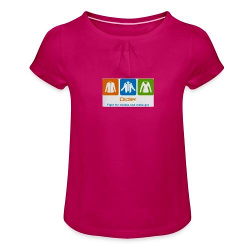 IMG 3596 - Pige T-shirt med flæser
