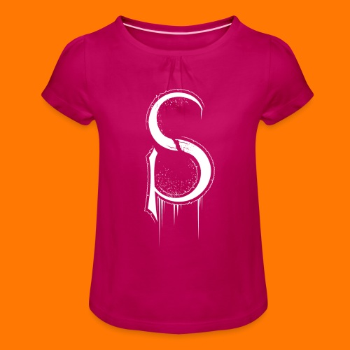 SCP-sign-WHITE transp - Girl's T-Shirt with Ruffles