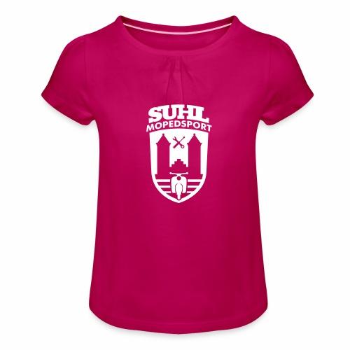 Suhl Mopedsport Schwalbe 2 Logo - Girl's T-Shirt with Ruffles