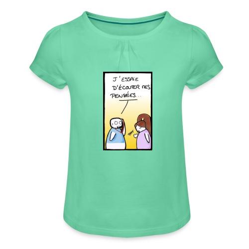 genie - T-shirt à fronces au col Fille