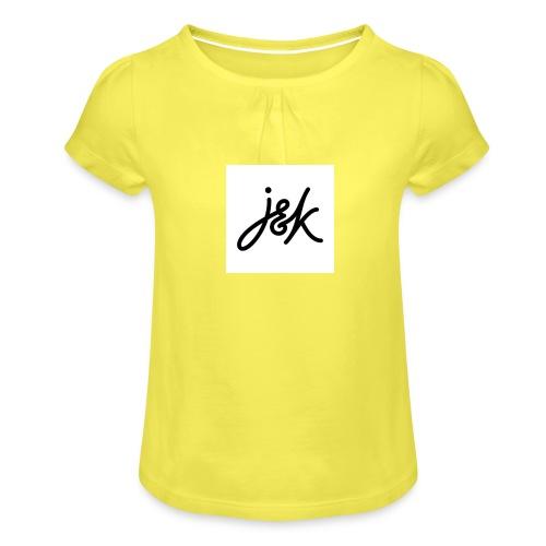 J K - Girl's T-Shirt with Ruffles