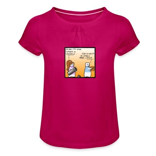 lepreux - T-shirt à fronces au col Fille