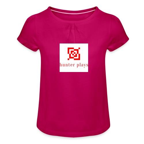 hunter plays - Girl's T-Shirt with Ruffles