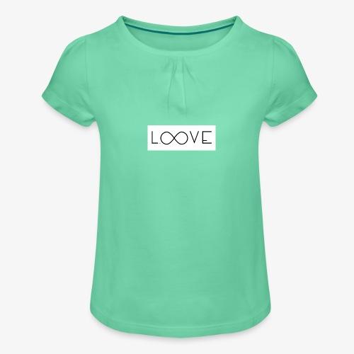 LOOVE Box Logo (SS18) - Maglietta da ragazza con arricciatura