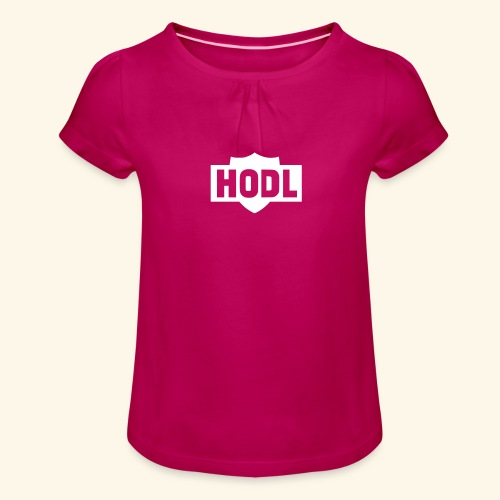 HODL TO THE MOON - Tyttöjen t-paita, jossa rypytyksiä