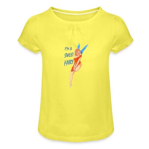 Sweet Fairy - Maglietta da ragazza con arricciatura