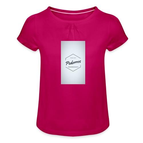 ARTE - Camiseta para niña con drapeado