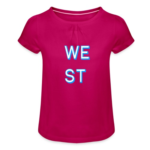 WEST LOGO - Maglietta da ragazza con arricciatura
