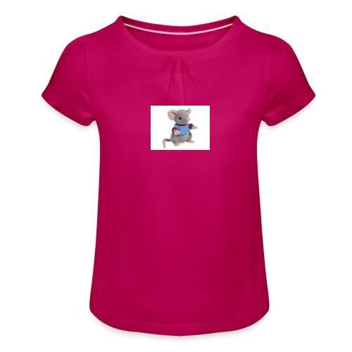 rotte - Pige T-shirt med flæser