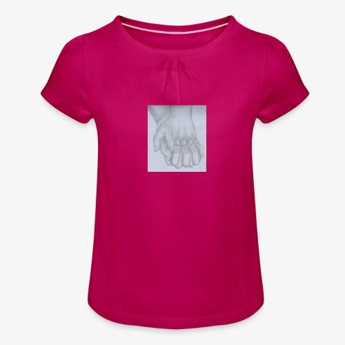 main dans la main - T-shirt à fronces au col Fille