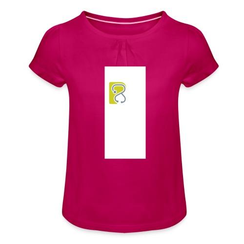 LogoTS - Mädchen-T-Shirt mit Raffungen