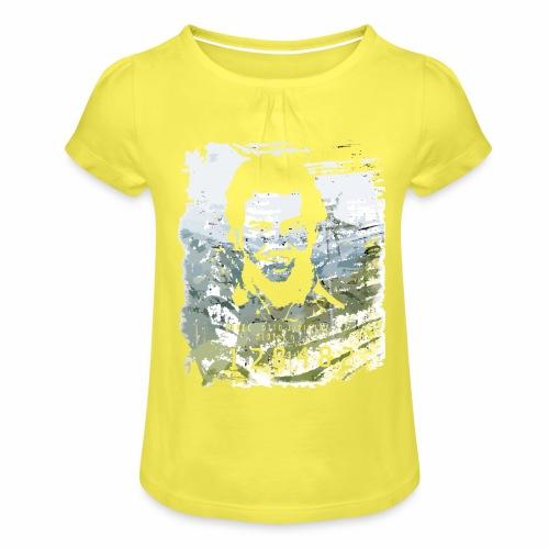 Pablo Escobar distressed - Mädchen-T-Shirt mit Raffungen