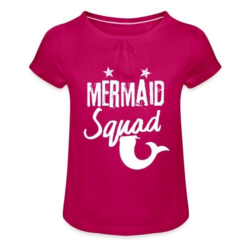 Meerjungfrau-Trupp-Kader - Mädchen-T-Shirt mit Raffungen