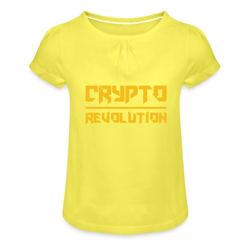 Crypto Revolution III - Girl's T-Shirt with Ruffles