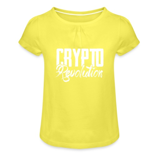 Crypto Revolution - Girl's T-Shirt with Ruffles