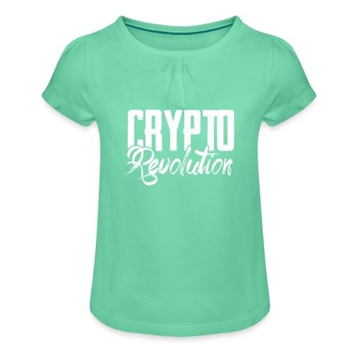 Crypto Revolution - Girl's T-Shirt with Ruffles