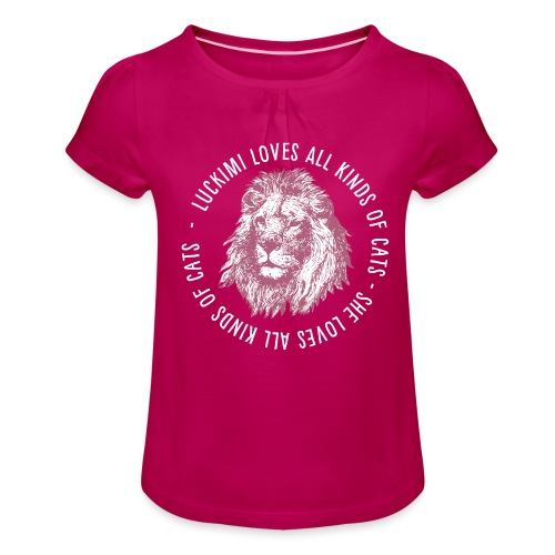 All kinds of cats - Barn - Girl's T-Shirt with Ruffles