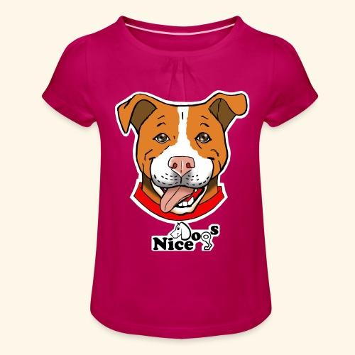 pitbull2 - Maglietta da ragazza con arricciatura