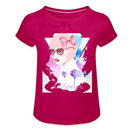 Le coeur - T-shirt à fronces au col Fille