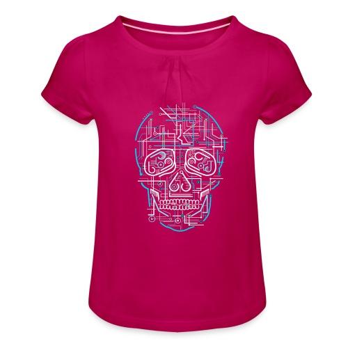 electric skull tshirt ✅ - Mädchen-T-Shirt mit Raffungen