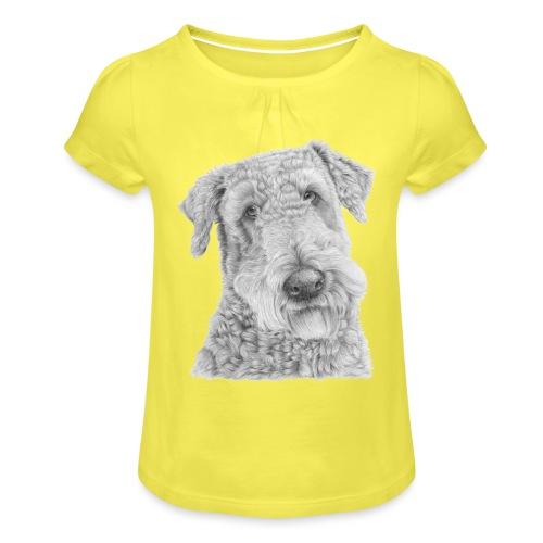 airedale terrier - Pige T-shirt med flæser