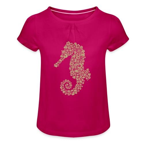 Seepferdchen Spezial - Mädchen-T-Shirt mit Raffungen