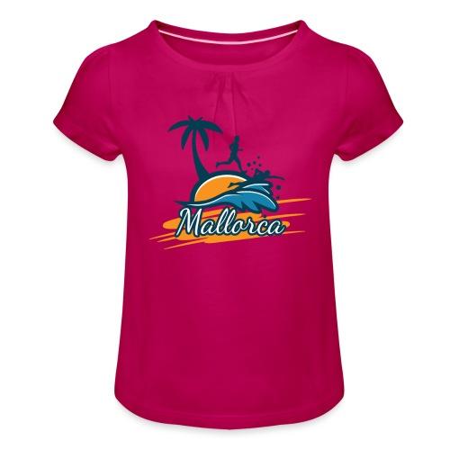 Joggen auf Mallorca - Sport - sportlich - Jogging - Mädchen-T-Shirt mit Raffungen