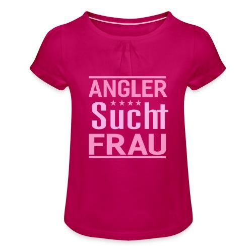 Angler sucht frau Geschenkidee single Männer - Mädchen-T-Shirt mit Raffungen