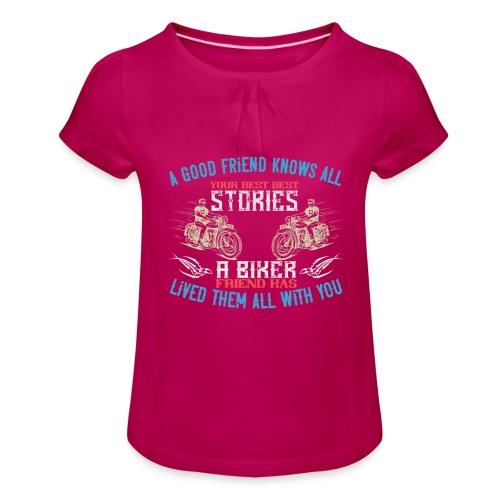 Biker stories. - Girl's T-Shirt with Ruffles