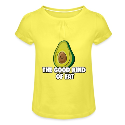 Avocado: The Good Kind of Fat - Girl's T-Shirt with Ruffles