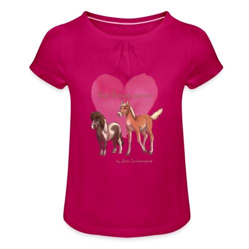 BFF Porzellinchen & Wunschtraum - Mädchen-T-Shirt mit Raffungen