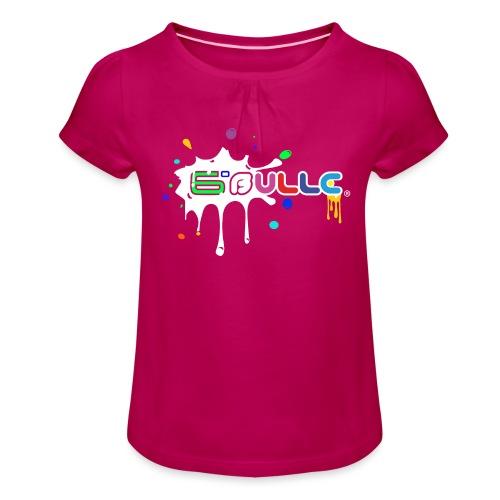 6bulle Spash blanc - T-shirt à fronces au col Fille