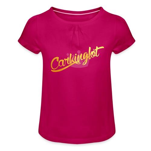 Carkinglot schoon - Meisjes-T-shirt met plooien