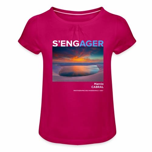 1 Achat = 1 Don Fondation Yann Arthus-Bertrand - T-shirt à fronces au col Fille