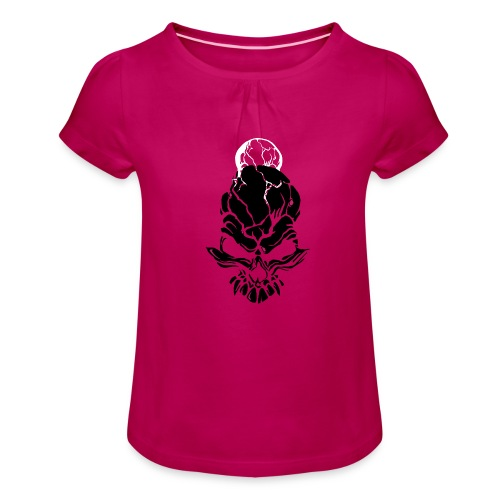 F noize fronte png - Girl's T-Shirt with Ruffles