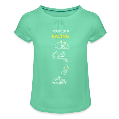 Good old racing - Girl's T-Shirt with Ruffles