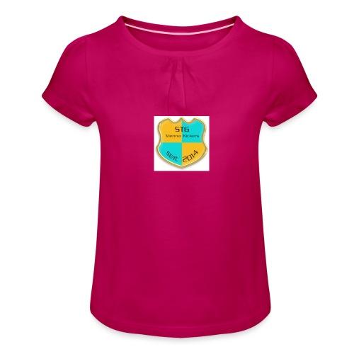 STG Vienna Kickers Logo - Mädchen-T-Shirt mit Raffungen