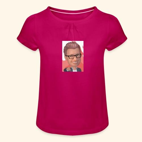 MM twitch shop - Pige T-shirt med flæser