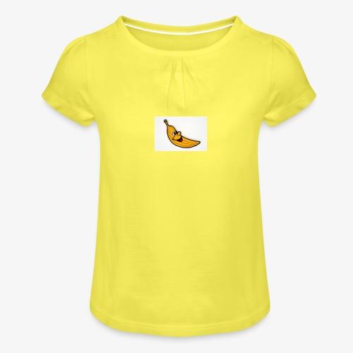 Bananana splidt - Pige T-shirt med flæser