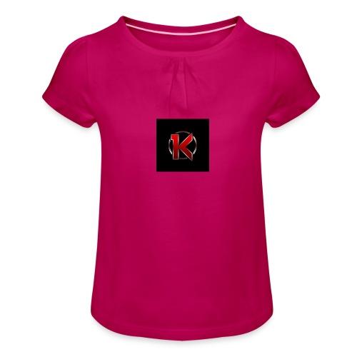 Logo - Pige T-shirt med flæser